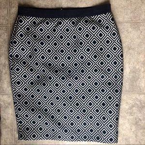 [Ann Taylor] Navy Diamond Pencil Skirt